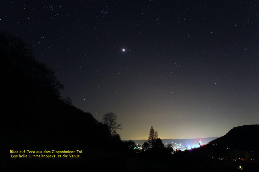 Herrlicher Sternenhimmel über Jena